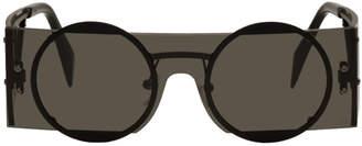 Yohji Yamamoto Black Rectangular Sunglasses