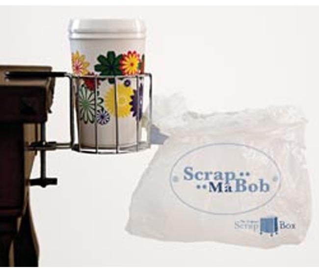 Scrapbooking Cup and Bag Clamp-On Holder