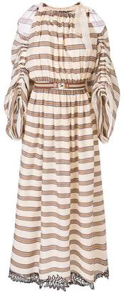Fendi striped flared dress