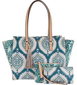 Dena East/West Shopper Tote with Pouch_andWristlet