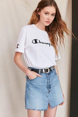Urban Renewal Remade Notched Denim Mini Skirt $69 thestylecure.com