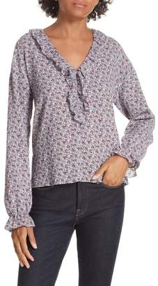 Rebecca Taylor Nadia Cotton Floral Blouse