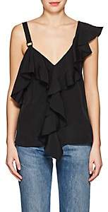 Proenza Schouler Women's Ruffle Silk Blouse-Black
