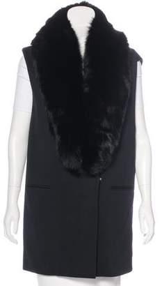 Thomas Wylde Fox Fur-Trimmed Vest