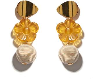 Lizzie Fortunato Goldenrod Column Earrings