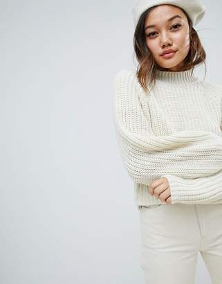 Asos DESIGN crop sweater with wide sleeve