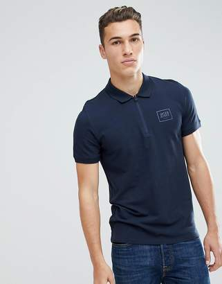 Jack and Jones Core Polo Shirt With Zip Neck