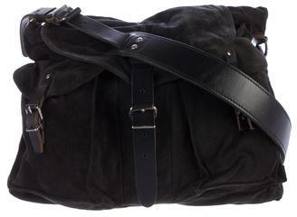 Balenciaga Balenciaga Leather-Trimmed Suede Messenger Bag