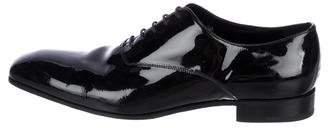 Prada Patent Leather Square-Toe Oxfords