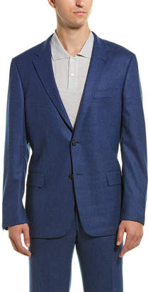 Hickey Freeman 2Pc Milburn Ii Wool & Cashmere-Blend Suit With Flat Pant