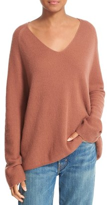 Women's Vince Deep V-Neck Cashmere Pullover $345 thestylecure.com
