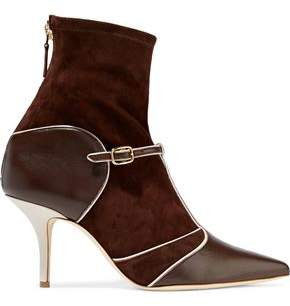 Malone Souliers Sadie Leather-Paneled Suede Ankle Boots