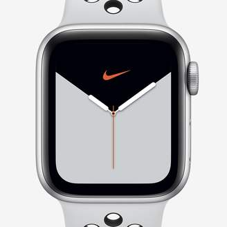 Nike 44mm Silver Aluminum Case Apple Watch Series 5 (GPS) with Sport Band