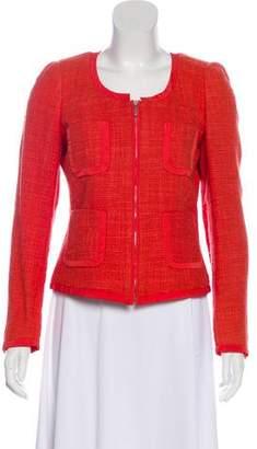 Max Mara Weekend Tweed Zip-Up Jacket