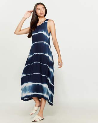 Made In Italy Tie-Dye Draped Midi Dress