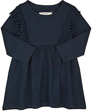 Little Indians Fringed-Bib Stretch-Cotton Jersey Dress