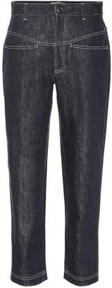 Fendi High-rise cropped jeans