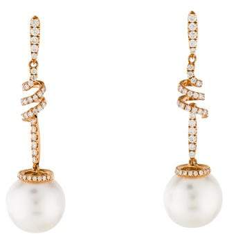 Tara Pearls 18K Diamond & Pearl Drop Earrings