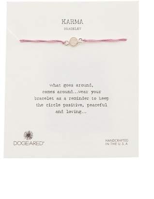 Dogeared Karma Rose Quartz Slide Bracelet