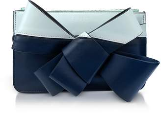 DELPOZO Striped Leather Mini Bow Clutch