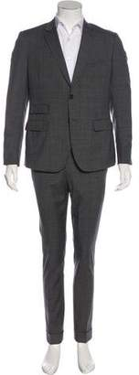 Band Of Outsiders Wool Glen Plaid Suit