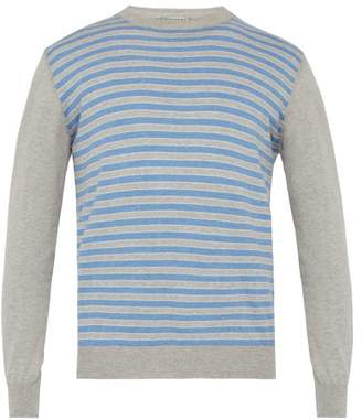 Éditions M.R Editions M.r - Ravello Striped Cotton Jersey Sweater - Mens - Blue Multi