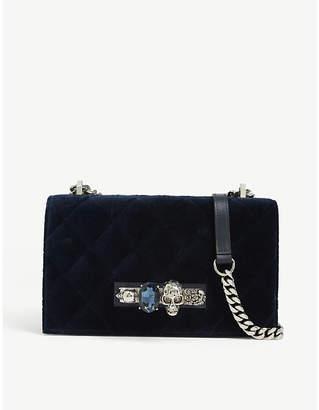 Alexander McQueen Knuckle duster quilted velvet satchel