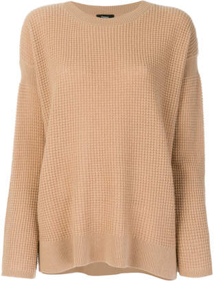 Theory dropped shoulder cashmere jumper