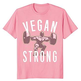 Vegan Strong Weightlifting Workout Gym Plant Diet T Shirt
