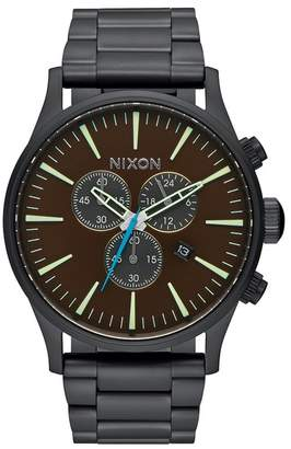 Nixon Men&s Sentry Chrono Watch $350 thestylecure.com