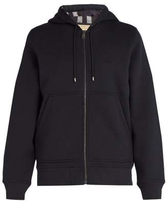 Burberry House Check Lined Hooded Sweatshirt - Mens - Navy