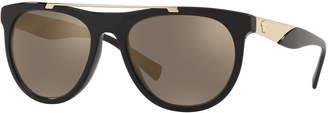 Versace Men's Square Acetate Contrast-Temple Sunglasses