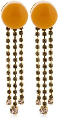Marni Dot With Crystal Fringe Clip-On Earrings
