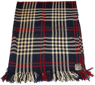 One Kings Lane Vintage Fringed Plaid Blanket - Luis Rodriquez