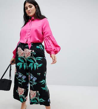 Junarose organic wide legged floral pants