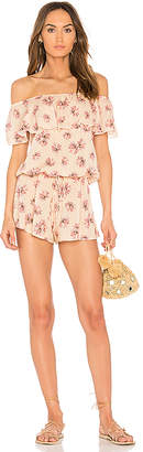 eberjey Fly Lotus Tula Romper in Yellow $178 thestylecure.com