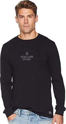 Volcom Men's Freestate Knit Crew Longsleeve Pocket Shirt
