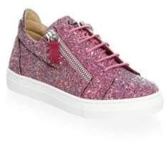 Giuseppe Zanotti Baby's, Toddler's, & Girl's Glitter Double Zip Low Top Sneakers