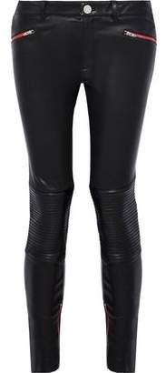 Zoe Karssen Zip-Detailed Leather Skinny Pants