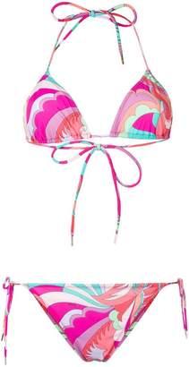 Emilio Pucci abstract print bikini set