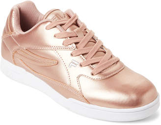 Fila Rose Gold & White Amant Low-Top Sneakers