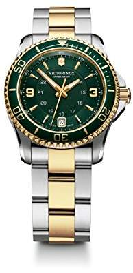Victorinox Women's 241612 Maverick Watch with Green Dial and Two-Tone Stainless Steel Bracelet