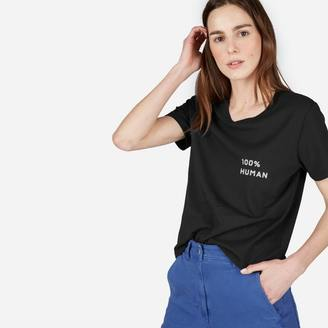 The Human Women's Box-Cut Tee in Small Print $22 thestylecure.com