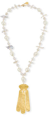 Devon Leigh Pearl Station & Pendant Necklace