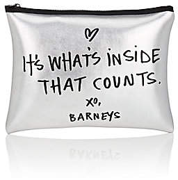 Barneys New York WOMEN'S COSMETIC BAG - SILVER