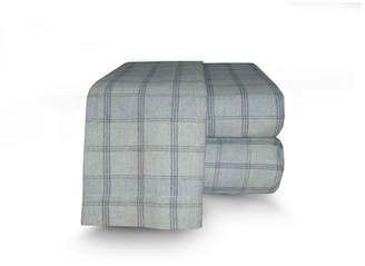 La Rochelle Flannel Plaid Sheet Set Full Bedding