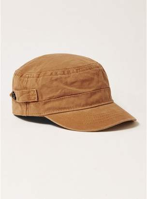 Topman Mens Blue Sand Canvas Cadet Cap