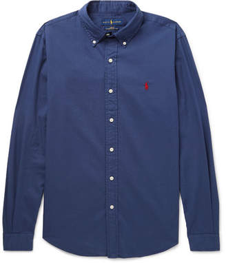 Polo Ralph Lauren Slim-Fit Button-Down Collar Garment-Dyed Cotton-Twill Shirt