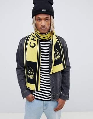Cheap Monday Soccer Scarf In Black And Yellow