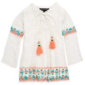Toddler's, Little Girl's & Girl's Marrow Dotted Georgette Top